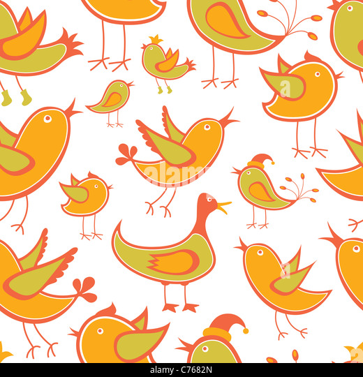 Seamless Bird Background or Wallpaper - Stock Image