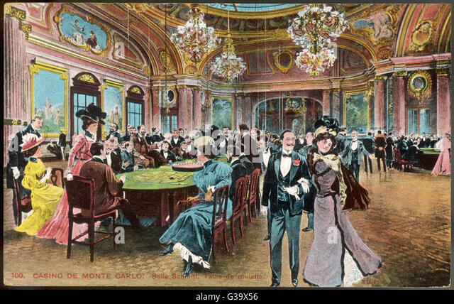The SALLE DE JEU at the  beginning of the twentieth  century        Date: circa 1900 - Stock Image