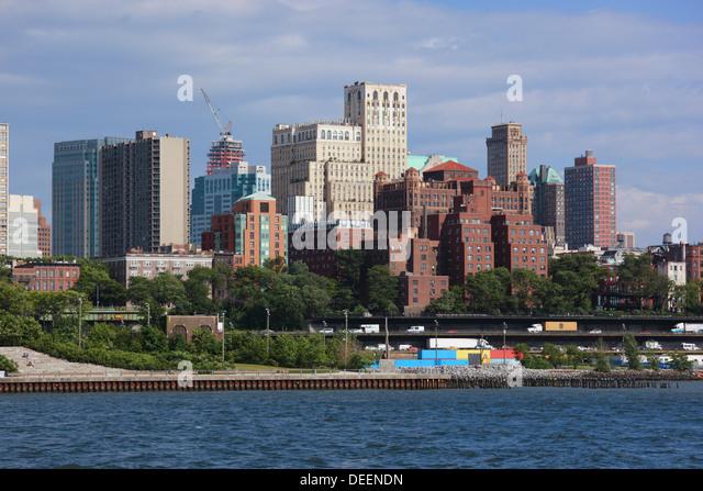 Brooklyn skyline in New York, USA. - Stock Image