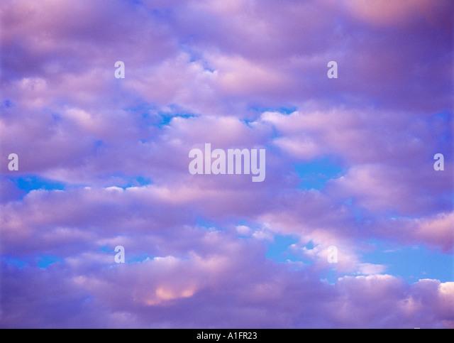 Clouds over Mono Lake California - Stock Image