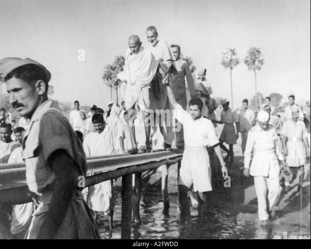 Mahatma Gandhi during the tour of Jahanabad Bihar India 28 March 1947 - MKG 33163 - Stock Image