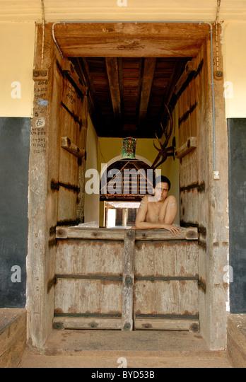 300 YEARS OLD VADHYAN MANA IN KERALA - Stock-Bilder