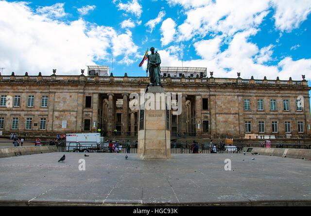Simon Bolivar Monument in Bogota, Colombia - Stock Image
