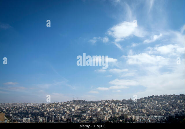 The Capital city of Jordan, Amman. - Stock Image