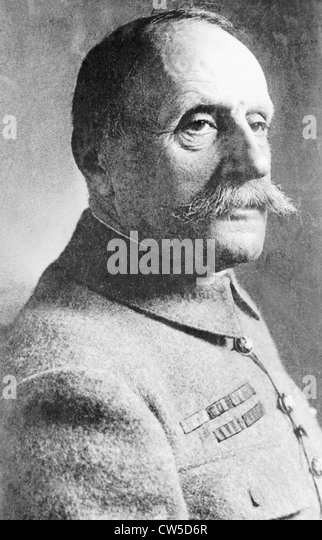 Portrait of Marshal Foch - Stock Image