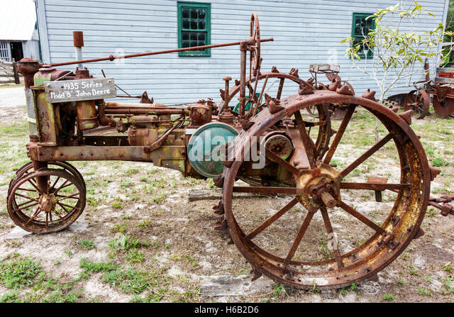 Florida Palm Coast Florida Agricultural Museum living history museum farm pioneer homestead restored Depression - Stock Image