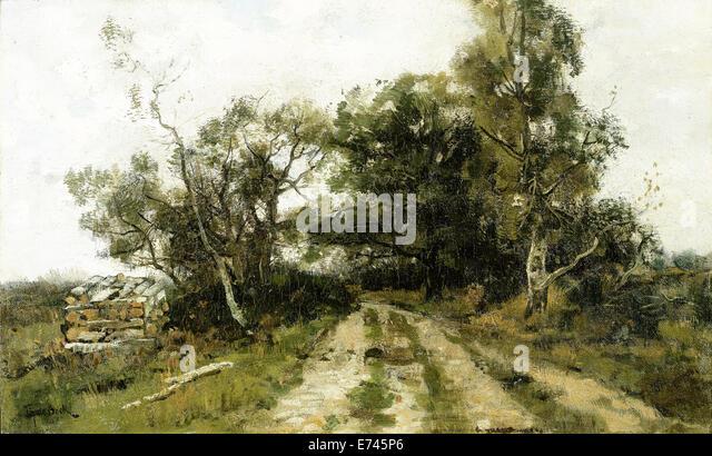 Sandy road - by Théophile de Bock 1870 - 1904 - Stock Image