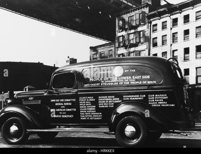NYC Ambulance, 1930s - Stock Image