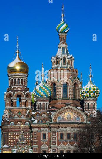 St. Petersburg, Church of the Savior on the Blood of Christ, erected in memory of the fact that this place 1 [13] - Stock Image