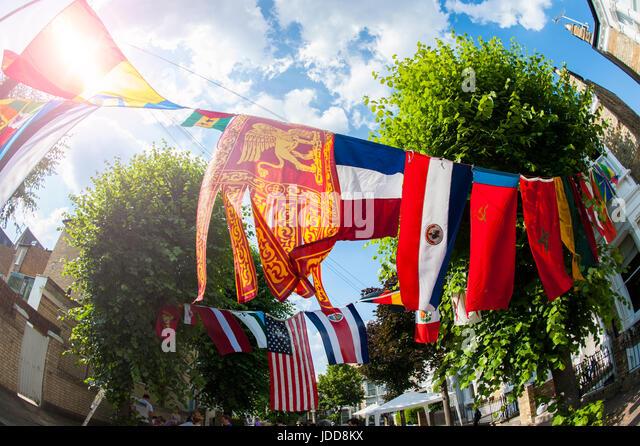 International flags  including Veneto Region of Italy - Stock Image