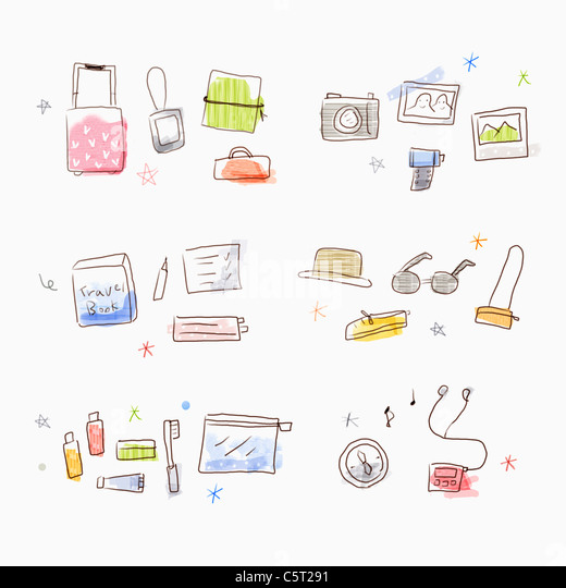 goods for travels - Stock Image