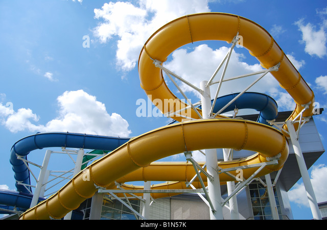 Water slides uk stock photos water slides uk stock images alamy for Swimming pools with slides north west