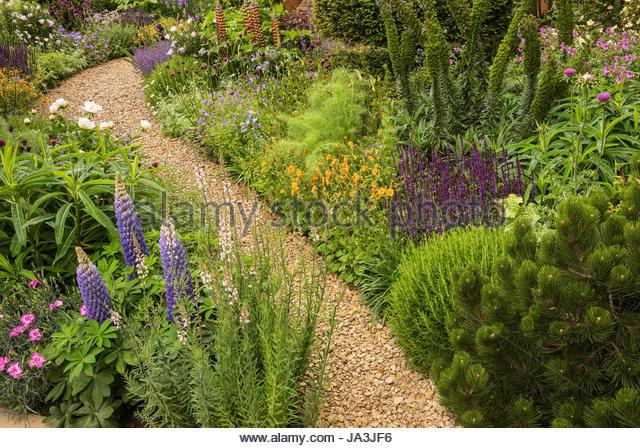 Green Path Garden Feature Stock Photos Green Path Garden