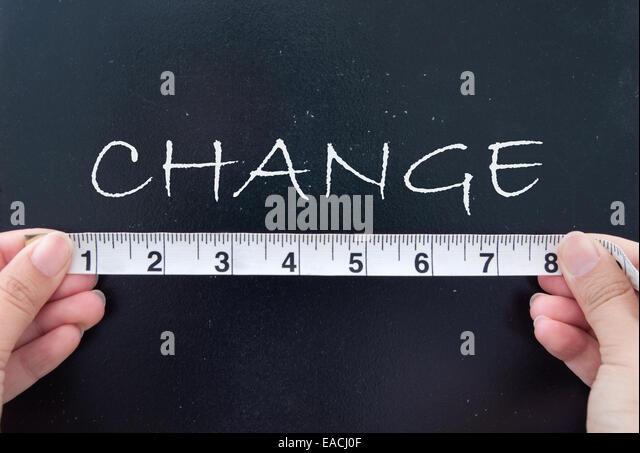 Measuring change - Stock Image