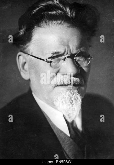 MIKHAIL IVANOVICH KALININ (1875-1946) Soviet politician - Stock Image