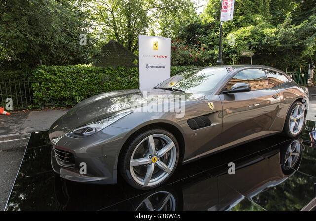 Turin, Italy. 09th June, 2016. Turin car show,from 8th to 12 th June 2016. Ferrari GTC4 Luxury Credit:  RENATO VALTERZA/Alamy - Stock Image
