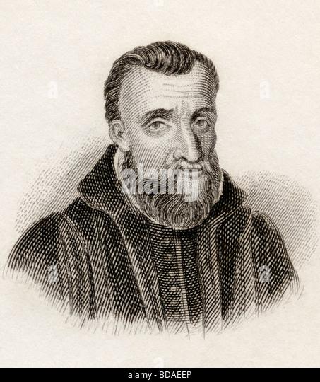 Guy Pancirollus 1523 to 1599.  Italian lawyer and antiquarian. - Stock Image