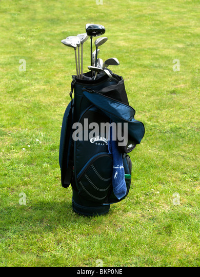 A full set of Golf Clubs - Stock Image