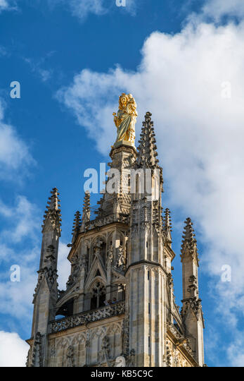 Saint Andrews Cathedral bell tower, Tour Pey-Berland, Bordeaux , France - Stock Image
