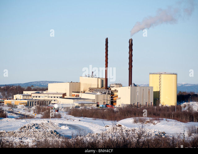 Sweden, SWE, Lapland, Kiruna, 2010Apr04: The Kiruna incineration plant. - Stock Image