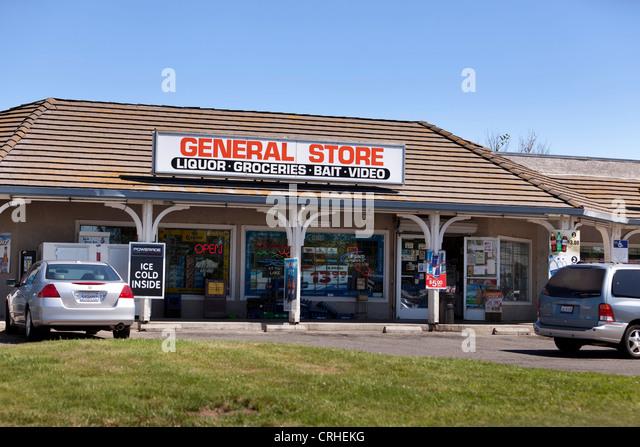 General store storefront - Pennsylvania USA - Stock Image