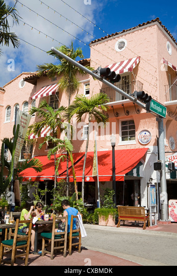 Spanish Village, Miami Beach, Florida, United States of America, North America - Stock Image