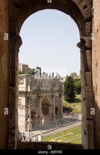 Italy, Rome, Arco di Costantino - Stock Image