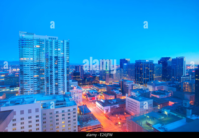 Skyline of Denver, CO - Stock Image