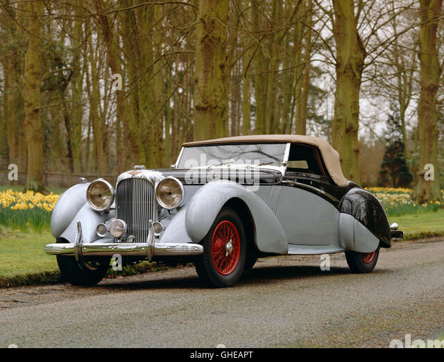 1939 Lagonda LG6 Rapide 2 door drophead coupe 4 5 litre straight 6 OHV engine Country of origin United Kingdom - Stock Image
