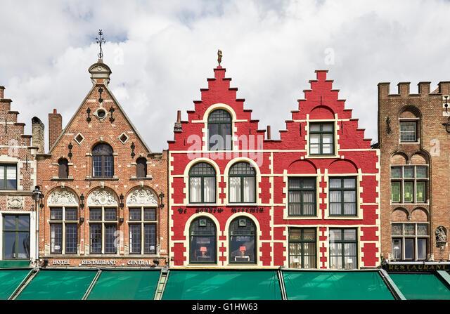 Markt Square. Brugge. Flanders. Belgium. - Stock Image
