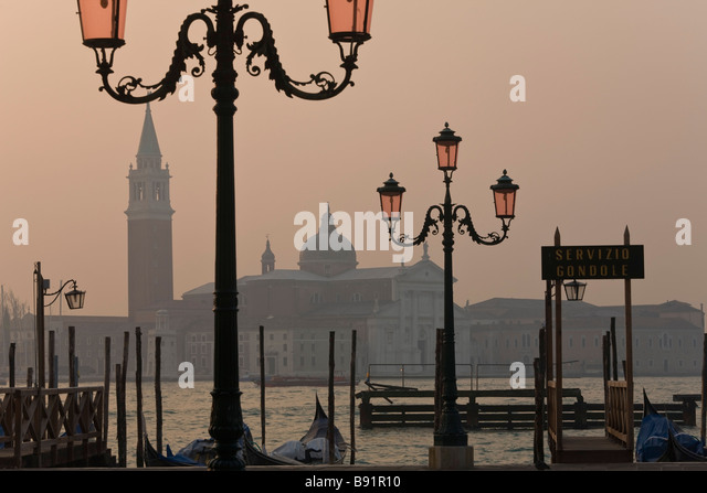 Italy Veneto Venice Piazza San Marco with San Giorgio Maggiore in the background - Stock-Bilder