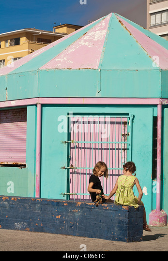 South Africa, Western Cape, Cape Town, Sea Point, game on the sea front - Stock Image