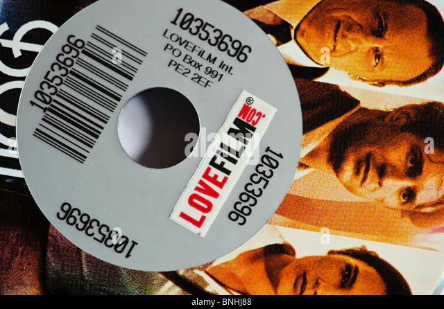 Lovefilm.com dvd rental by post, UK - Stock Image