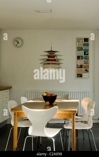 Arne jacobsen chair stock photos arne jacobsen chair for Scandinavian decor on a budget
