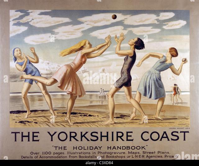The Yorkshire Coast, by Laura Knight. England, 1929 - Stock-Bilder