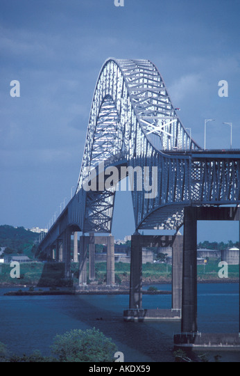 Republic of Panama Bridge of the Americas - Stock Image