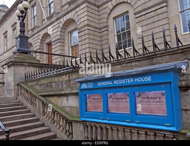 General Register House, Edinburgh, Scotland, UK - Stock Image