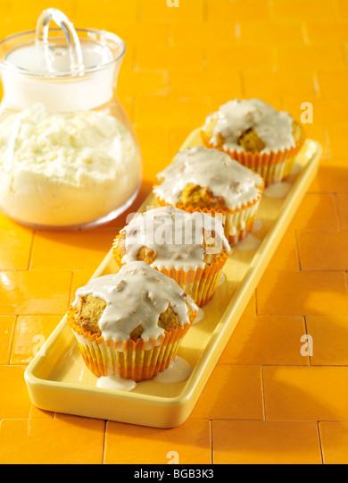 High protein pumpkin muffins - Stock Image