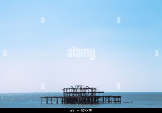 Brighton West Pier on a sunny clear day Rianna Tamara Photography - Stock Image