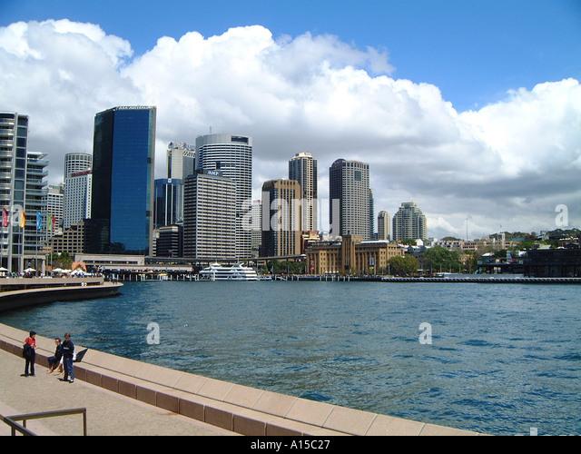 Circular Quay Sidney Harbour Australia - Stock Image