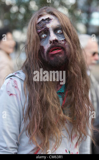 London, England, UK. Saturday, 13 October 2012. World Zombie Day 2012 in London. (Photo: Nick Savage / Alamy Live - Stock Image