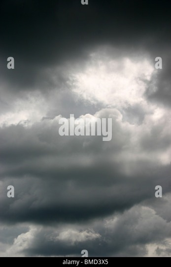cloudy sky - Stock Image