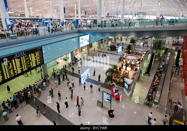 Interior of Beijing Capital Airport Terminal 3. JMH4821 - Stock Image