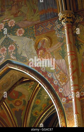 Urbanova stock photos urbanova stock images alamy for Art nouveau mural