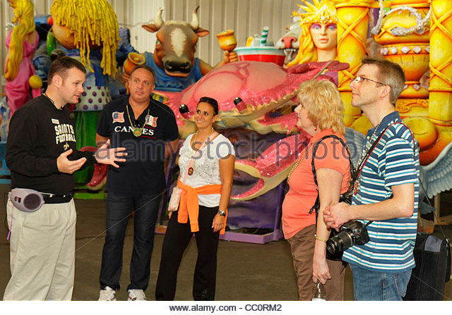 Louisiana New Orleans Port of New Orleans Blaine Kern's Mardi Gras World attraction carnival exhibit design - Stock Image