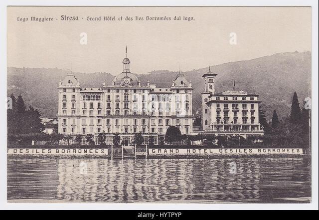 Grand Hotel Des Iles Borromees & Lake Maggiore, Stresa, Italy - Stock Image
