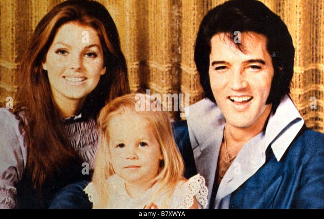 Elvis Presley Elvis Presley presley elvis Priscilla Presley en famille - Stock Image