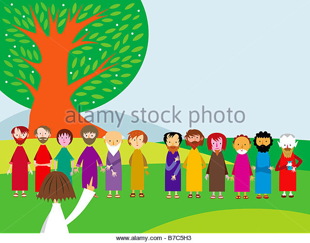Jesus Chooses His Twelve Apostles - Stock Image