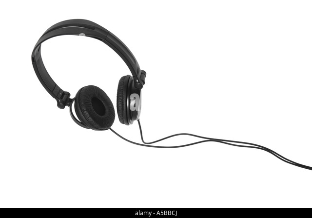 Headphones cut out on white background - Stock-Bilder