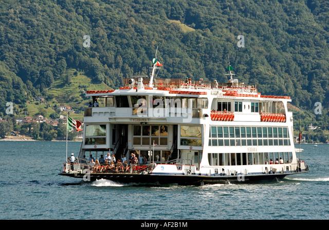 Switzerland Ticino Ascona Lago Maggiore Ferry - Stock Image